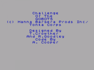 Challenge Of The Gobots (1987)(Dro Soft)(Side B)[48-128K][re-release] ROM