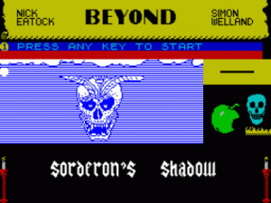 Sorderon's Shadow (1985)(Beyond Software)[a] ROM