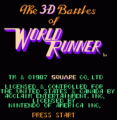 3-D Battles Of World Runner, The