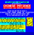 Chinese Patience (1987)(Zafiro Software Division)[re-release]